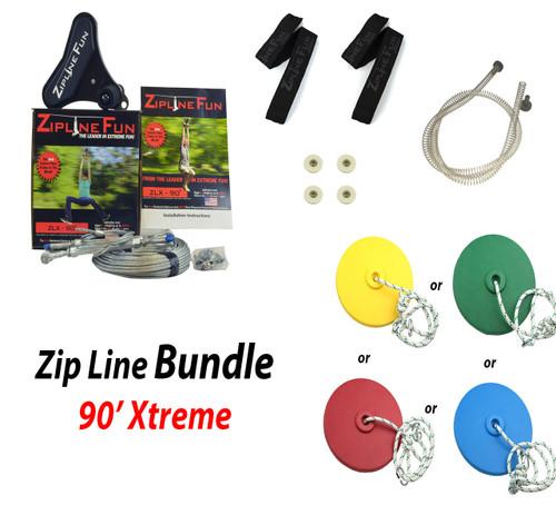 ZLX-90 90' Xtreme Zip Line Bundle