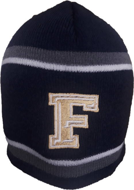 "Foxboro ""F"" Navy Holloway Beanie No Pom"