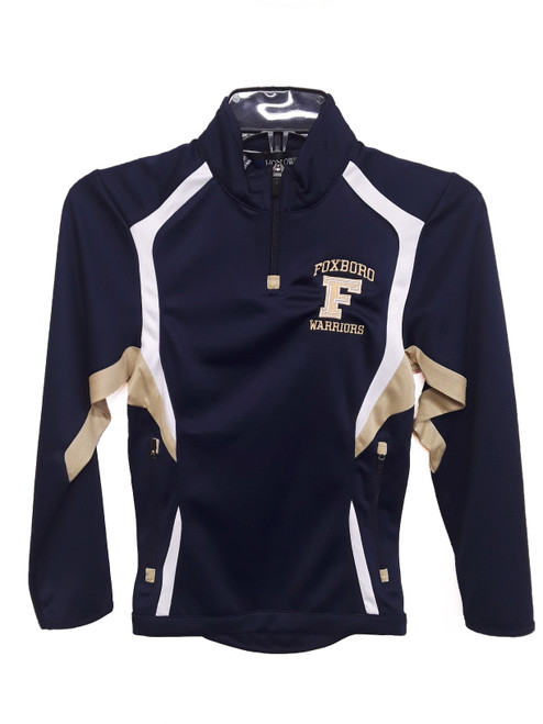 "Foxboro ""F' Holloway Navy Youth 1/4 Zip"