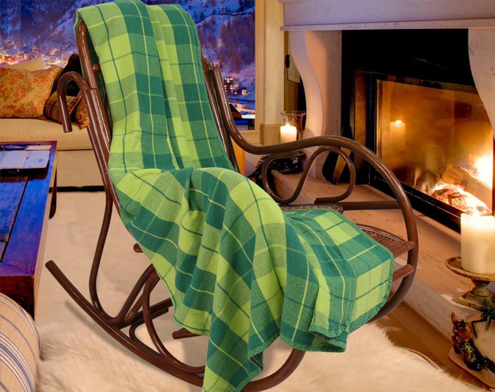 Green Linen Blanket