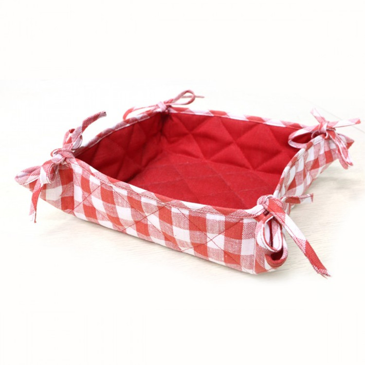 Red Flax Linen Basket