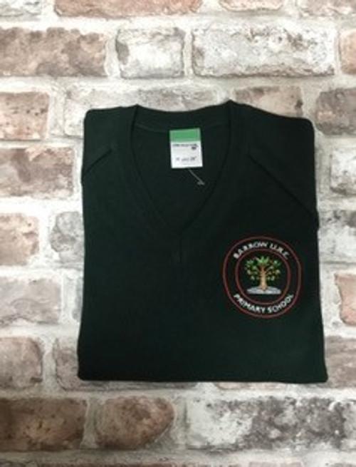 Barrow Boys Green Knitted V-Neck Jumper