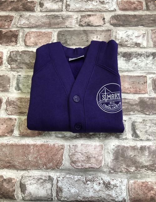St Mary`s Osbaldeston Girls Purple Cardigan
