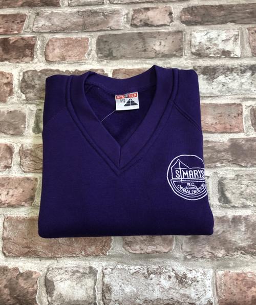 St.Mary`s Osbaldeston V-neck Purple Sweatshirt