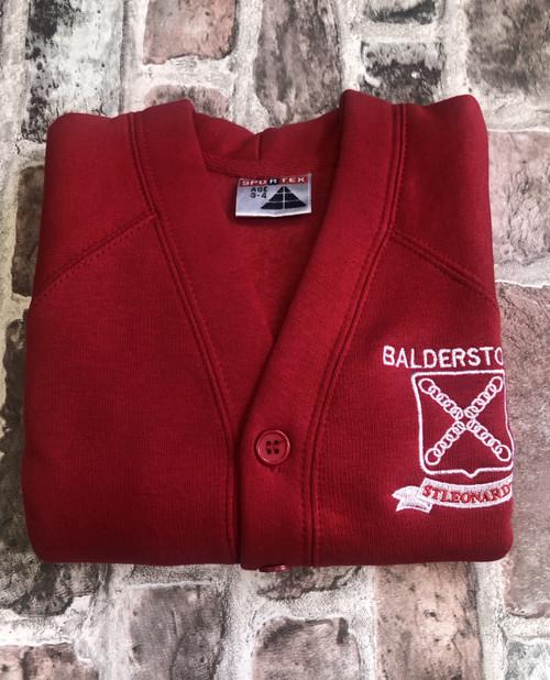 Balderstone St.Leonard`s Girls Red Cardigan