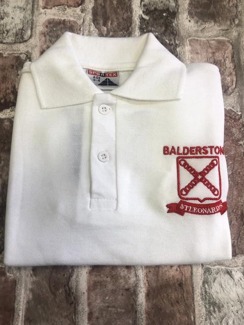 Balderstone St. Leonard's White Poloshirt