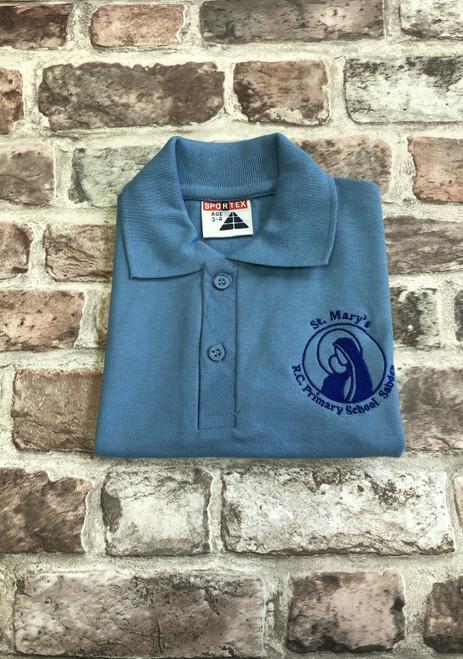 St Mary`s Sabden Sky Blue Poloshirt