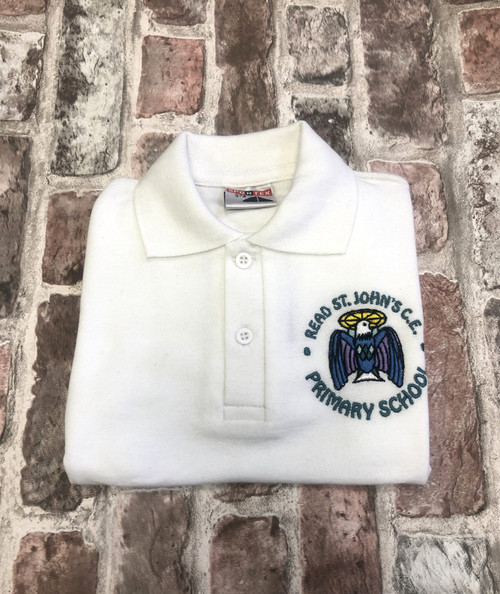 Read St.John`s White Poloshirt