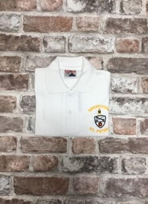 Simonstone St.Peter`s White Poloshirt