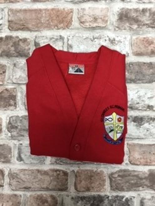 St. Charles Girls Red Cardigan