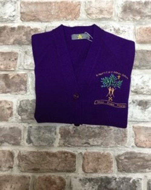 St. Peter`s Primary School Girls Knitted Cardigan