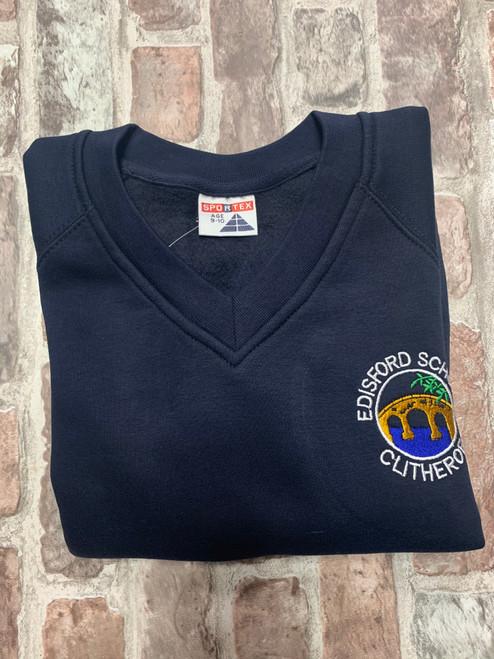 Edisford Navy V-Neck Sweatshirt (Year 6)