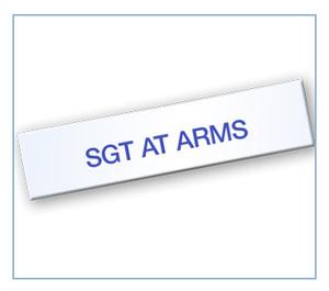Sgt-at-Arms Tag