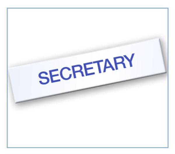 Board - Secretary Tag