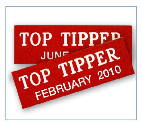 Top Tipper Badges
