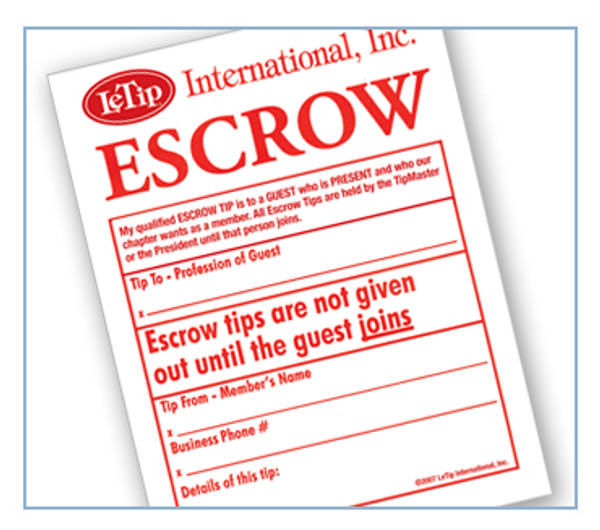 Escrow Tips - 50 Pack