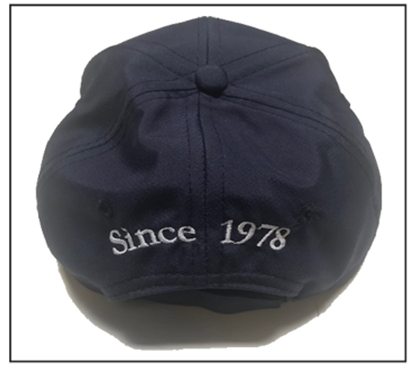 back of cap (Since 1978)