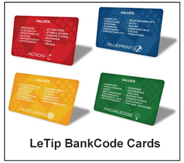 LeTip B.A.N.K. Cards
