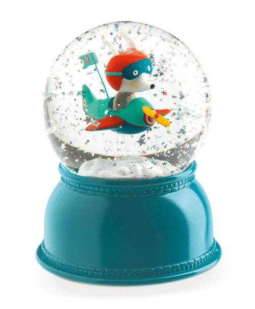 Snowglobe Night Light Airplane