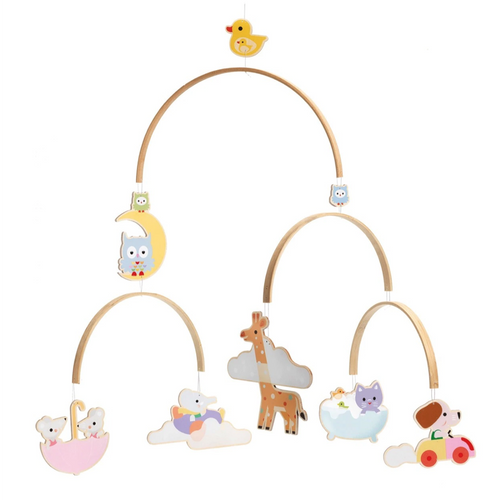 Wooden Mobile Baby Animals