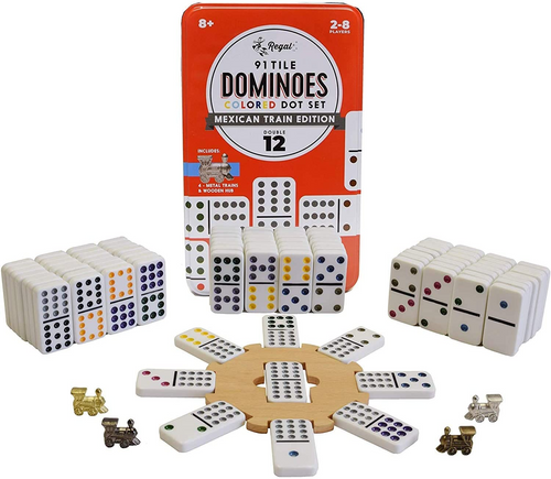 Double 12 Dominos Mexican Train