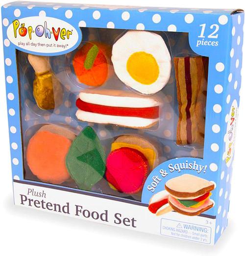 PopOhVer Plush Pretend Food Set