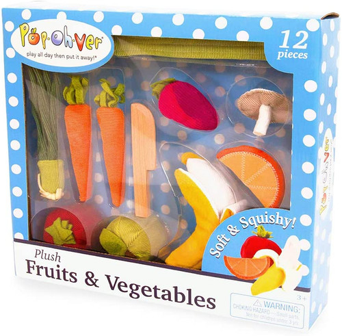 PopOhVer Plush Fruits & Veggies Set