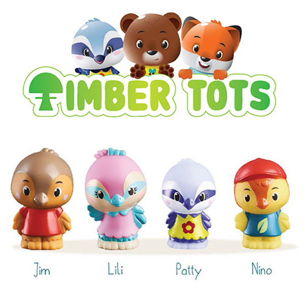 Timber Tots Twitwit Family Set of 4