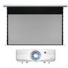 "Virtual Projector System –Mid Range with Electric Projection Screen 135"" diagonal"