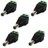 Velleman CD018 DC Plug 5 5x2 5mm Male to Screw Terminal - 5PAK
