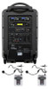 Galaxy Audio GAL10DELUXE DELUXE System Package: Basic System TV10 + CD Player + 2 Fitness Headset Wireless Microphone Systems + 1 Powered Companion Speaker