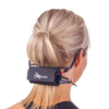 Fitness Audio MT-U8-II UHF Combo Wireless Mic System with E-mic Fitness Headset - Red shown with Yoga Wrap