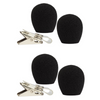 Shure RK318WS for Shure WH20, SM31 & PGA31 -  4 black windscreens and 2 clothing clips