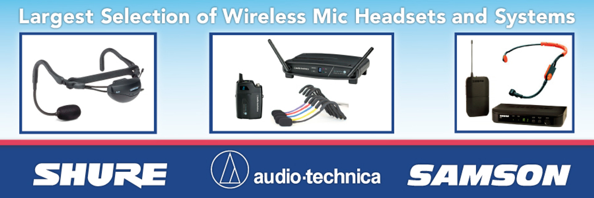 Largest selection of fitness wireless microphone systems!
