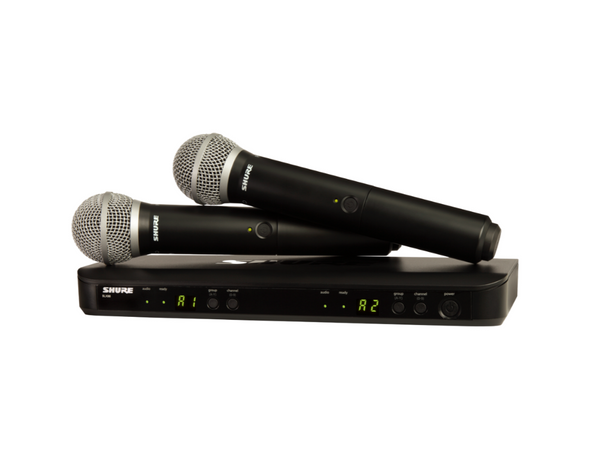 Shure BLX288/PG58 Wireless Dual Vocal System with two PG58 Handheld Transmitters
