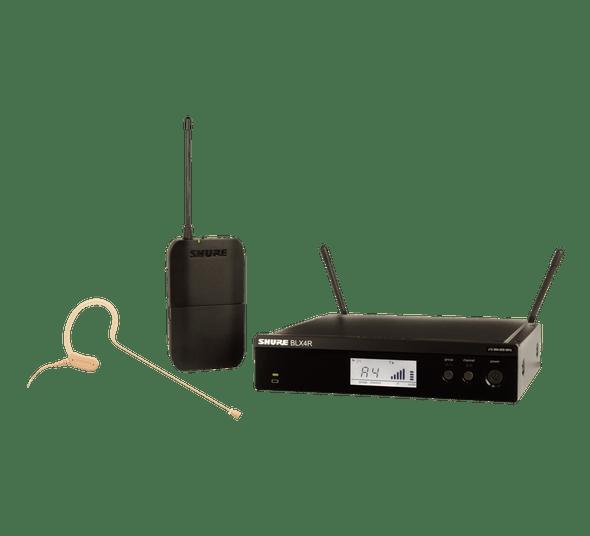 Shure BLX UHF Wireless Mic System, BLX1, BLX4R, MX153 Earset Headworn Microphone