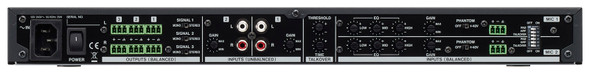Tascam MZ-123BT Commercial-grade Multi-Zone Audio Mixer - Rear View