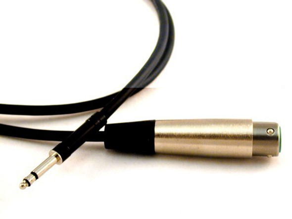 "XLR (Female) to 1/4"" (Male) Microphone/Line Cable 3 Ft CBXLRF-Q03B or 5 Ft CBXLRF-Q05B"