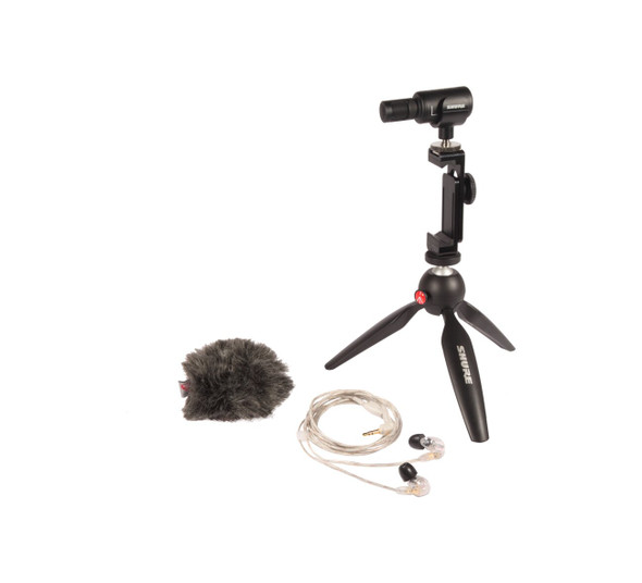 Shure MV88+ Videography Kit for iPhone, iPad, iPod, Android phone, Mac, Windows