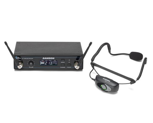 AirLine 99 AH9 Fitness Wireless System - AH9-Qe UHF Fitness Mic + CR99 Rack-mountable Receiver  Available on 2 Frequency Bands: D Band - 542–566MHz  K Band - 470–494MHz