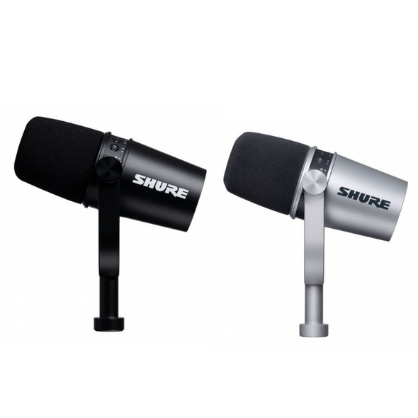 Shure MOTIV MV7 Dynamic Cardioid USB and XLR Podcast Microphone - Black or Silver