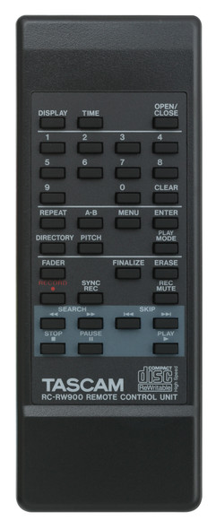 Tascam Professional CD-RW900MKII Rewritable CD Recorder/Player  - Remote Control