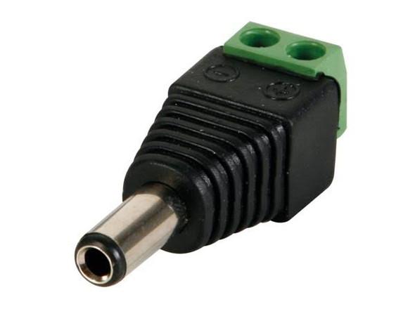 Velleman CD018 DC Plug 5 5x2 5mm Male to Screw Terminal