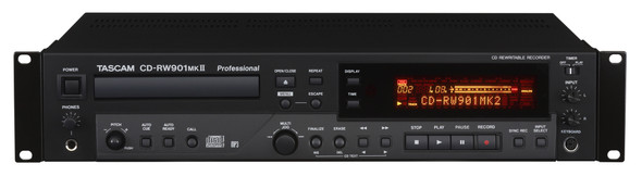Tascam CDRW901MKii Professional CD Recorder/Player with proprietary TEAC Tray-loading Transport