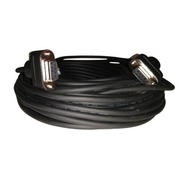 DB9 Female to DB9 Female Serial Cable 75' Black - OPEN BOX CLEARANCE