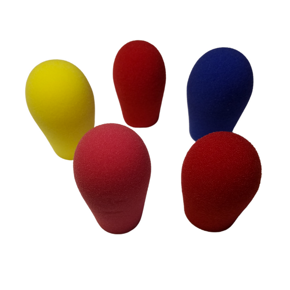 """Specialty Microphone Windscreens 5/8"""" ID by SupremeFit™ 5-PAK MULTICOLOR CLEARANCE - Color selection varies"""