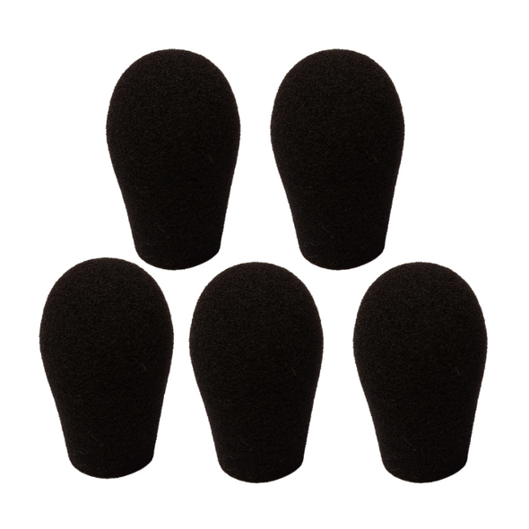 "Specialty Microphone WindscreenS 5/8"" ID by SupremeFit™ 5-PAK BLACK CLEARANCE"