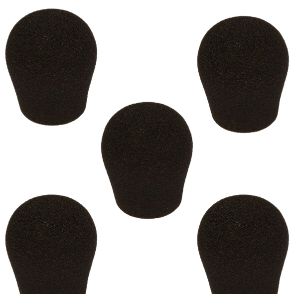 "Specialty Microphone Windscreens 1 3/8"" ID by SupremeFit™ 5-PAK BLACK CLEARANCE"