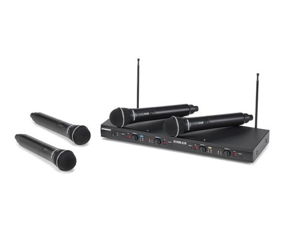 Samson Stage 412 - Frequency-Agile, Quad-Channel Handheld VHF Wireless System