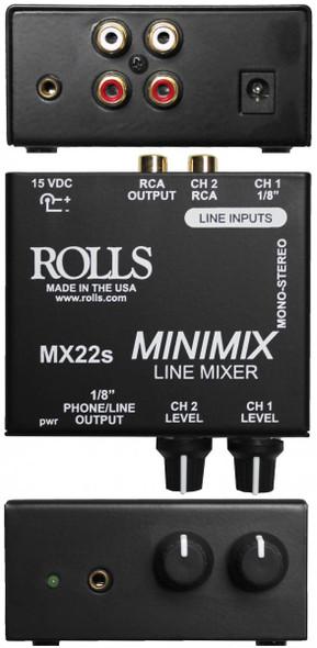 Rolls MX22s Mini Mix 2 Channel mixer